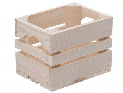 Dřevěná bedýnka 20 x 15 x 15 cm