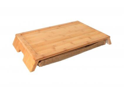 Servírovací stolek s polštářem - bambus