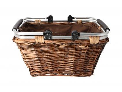 Proutěný nákupní košík - 40 x 43 x 31 cmx
