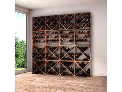 Borovicový stojan na víno III - 50 x 50 x 25 cm