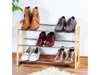 Nastavitelný třípatrový stojan na boty
