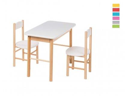 Barevný dětský stoleček s židličkami