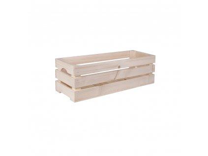 Dřevěná bedýnka 60 x 22 x 20 cm