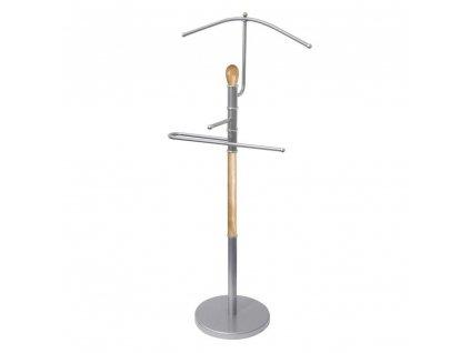 Dřevěný němý sluha 107 cm - světlý