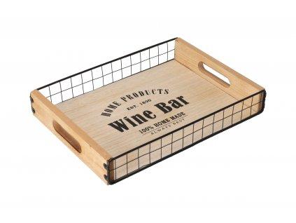 Dřevěný servírovací tác Wine Bar - malý