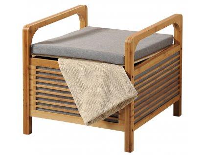 Bambusový stolek s polstrováním