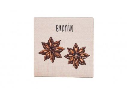 Dřevěný podtácek - Badyán
