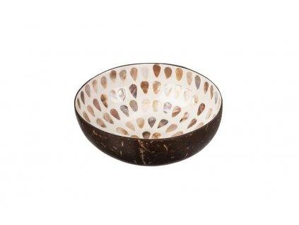 Kokosová miska s kapičkami