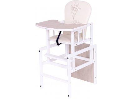 Jídelní židlička žirafa - dub santana