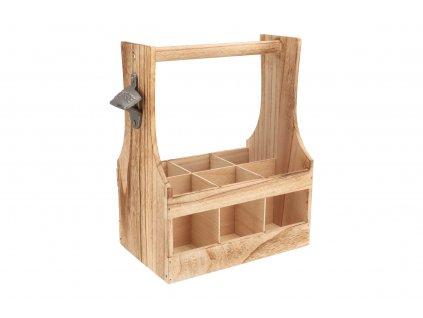Dřevěný nosič s otvírákem