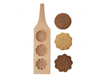 Dřevěná forma na perníčky - kulaté