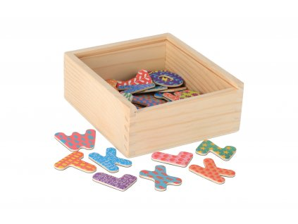 Dřevěné magnetky abeceda