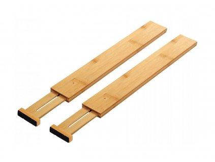 Bambusová nastavitelná přepážka 2ks