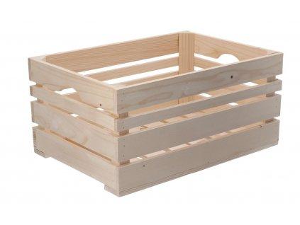 Dřevěná bedýnka 46 x 32 x 22 cm