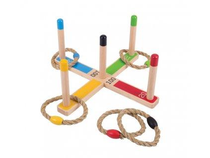 Dřevěná hra - Kroužky