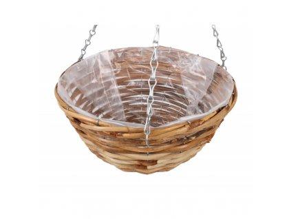 Dřevěná bedýnka s úchyty 24 x 12 x 7 cm