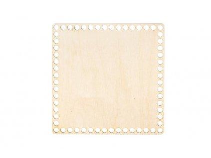 Dřevěné dno na košík - čtverec 20 cm