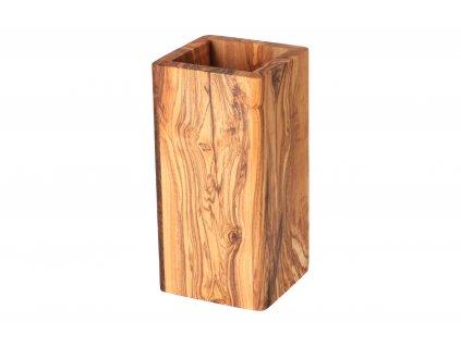 Stojan na příbory z olivového dřeva
