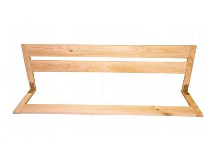 Dřevěná bezpečnostní zábrana do postele 127 cm