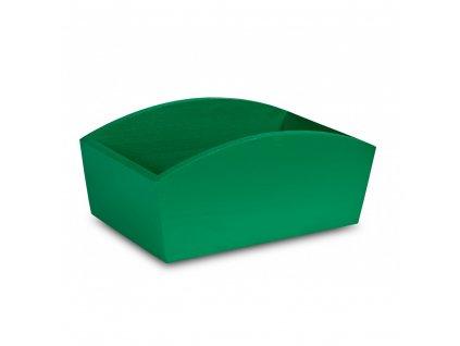 Dřevěný truhlík 28x16x12 cm - zelený