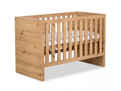 Dřevěná dětská postýlka Amelie přírodní