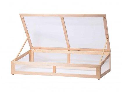 Dřevěný vyvýšený záhon se střechou 126 x 67 x 31,5 cm