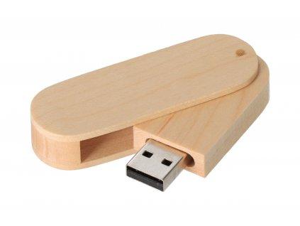 Dřevěný USB disk přírodní 16GB