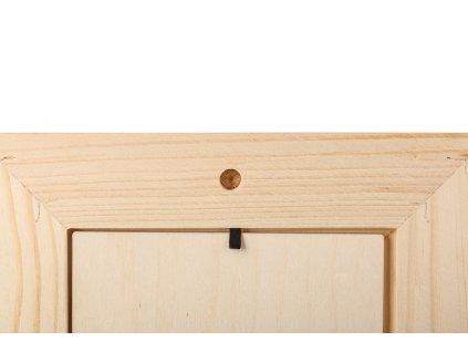 Dřevěný fotorámeček na zeď 22 x 17 cm