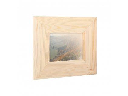 Dřevěný fotorámeček na zeď 29.5 x 25 cm