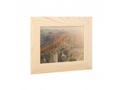 Dřevěný fotorámeček na zeď 28 x 22 cm