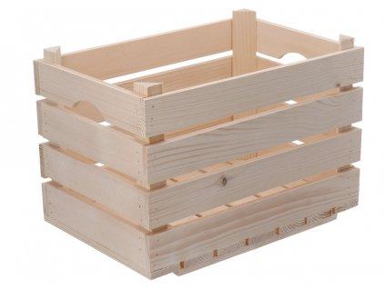 Dřevěná bedýnka 40 x 26 x 26 cm
