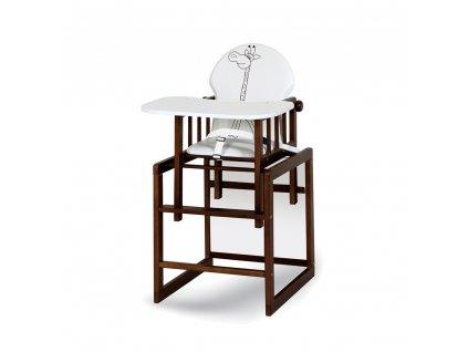 Jídelní židlička žirafa