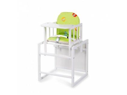 Jídelní židlička borovice bílá