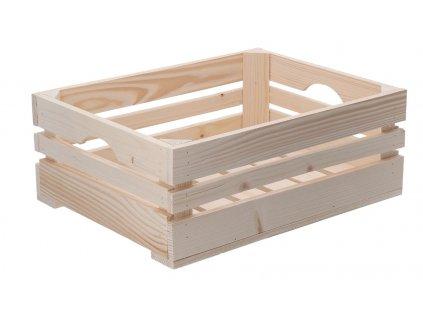 Dřevěná bedýnka 40 x 30 x 15 cm