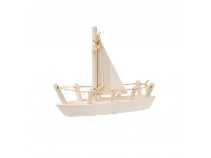 Dřevěná lodička