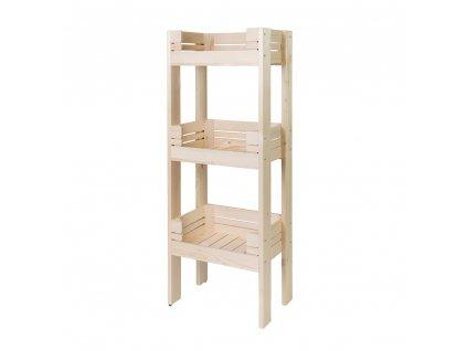 Regál dřevěný r3o2 120 x 46 x 30 cm