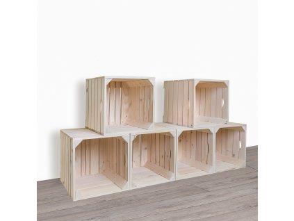 Dřevěné bedýnky botník 120x60x35 cm