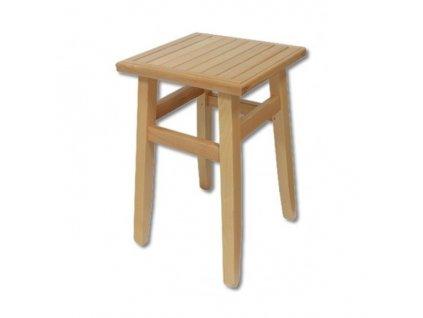 Dřevěná stolička taburet