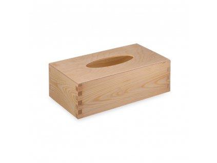 Dřevěná krabička na kapesníky s vysouvacím dnem