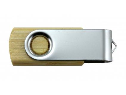 Dřevěný USB disk s nerezem 16GB