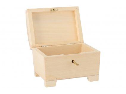 Dřevěná truhla XI na klíč