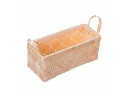 Dřevěný košík z dýhy obdélný malý