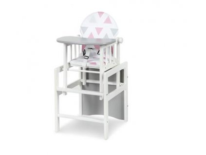 Jídelní židlička borovice De luxe bílá