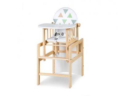 Jídelní židlička borovice De Luxe