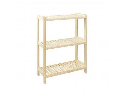 Regál dřevěný lm3 93 x 70 x 33 cm