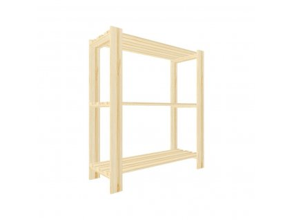 Regál dřevěný lm3 90 x 80 x 30 cm