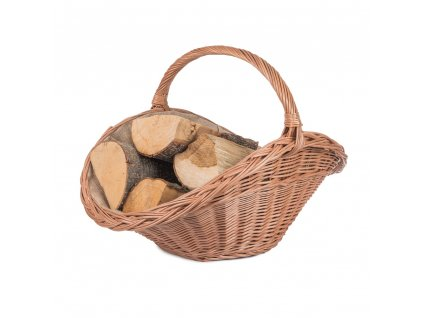 Proutěný koš na dřevo přírodní