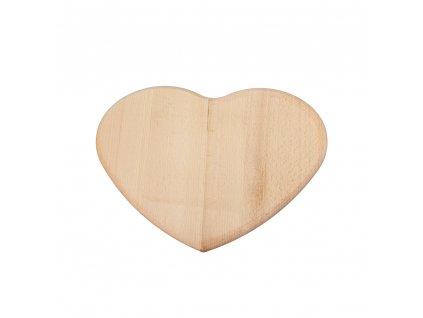 Prkénko srdce dřevěné 24 x 24 cm