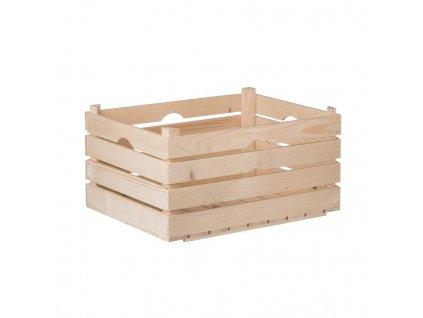 Dřevěná bedýnka 52 x 36 x 26 cm