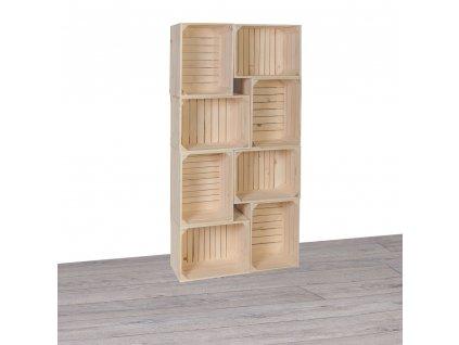 Dřevěné bedýnky knihovna II 70x140x24 cm